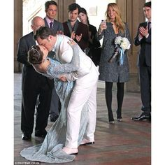 Gossip Girl Spoilers Is Chuck Getting Arrested on Their Wedding Day?... ❤ liked on Polyvore featuring gossip girl