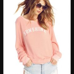 NWT Wildfox Baggy Jumper Soft peachy new with tag pullover sweatshirt by Wildfox. No trades. Generous discount with bundle. Wildfox Tops Sweatshirts & Hoodies