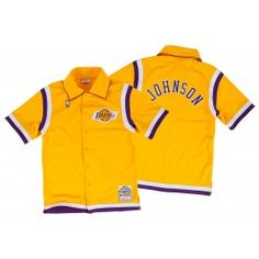 Magic Johnson<br>1986-87 Authentic Shooting Shirt<br>Los Angeles Lakers