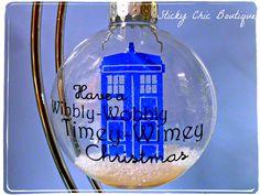 Doctor Who Timey-Wimey TARDIS Christmas tree ornament.