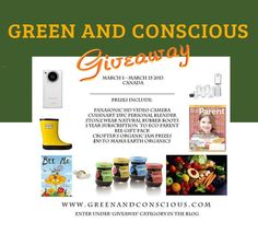 Green and Conscious is having an awesome contest with awesome goodies for awesome people (that's you)!