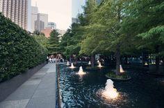 Avanti Fountain Place, Dallas, Texas - Landscape Architect Dan Kiley - One of the must see fountains in Dallas.