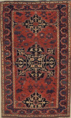 Turkish Ushak rug, 195 x 120 cm, 17th c, Moshe Tabibnia Gallery
