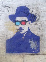 Fernando Pessoa   Street Art Smurfs, Street Art, Painting, Fictional Characters, Fernando Pessoa, Poems, Painting Art, Paintings, Fantasy Characters