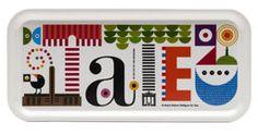 Tate tray by Maria Holmer Dahlgren. Via Print & pattern.