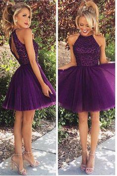 Prom Dresses Purple #PromDressesPurple, 2018 Prom Dresses #2018PromDresses, Open Back Prom Dresses #OpenBackPromDresses