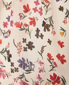 Image 7 of SHIRT WITH OPEN SHOULDERS from Zara Motifs Textiles, Textile Patterns, Textile Prints, Pretty Patterns, Flower Patterns, Flower Designs, Motif Floral, Ditsy Floral, Pattern Design