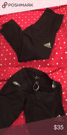 Adidas warm up/running pant sz XL Adidas warm up/running pant. Size XL. Has zippered pocket as shown in photo. Drawstring to tighten waistband on inside. Zippers on ends of ankles. Only worn once. Open to best offers, just ask! Adidas Pants Track Pants & Joggers