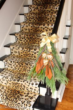 Merry and Bright Holiday Home Tour - OMG Lifestyle Blog - Holiday Stairs