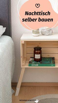 Ein eigenes Möbelstück anzufertigen, das klingt anfangs ziemlich schwierig. Mit der richtigen Anleitung und ein paar praktischen Tipps kannst Du Deine eigenen Ideen leichter umsetzen, als Du glaubst. Wir zeigen Dir, was Du alles brauchst, um mit Deinem ersten Projekt loslegen zu können. Nightstand, Furniture, Home Decor, Wood Slab, Handy Tips, Room Interior Design, Couple, Decoration Home, Room Decor