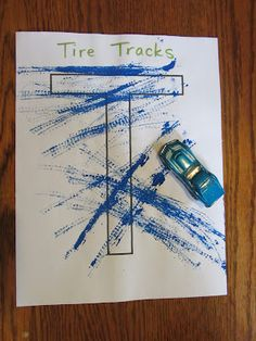 The Unlikely Homeschool: ABC Book: Letter T is for tire tracks Letter T Crafts, Letter T Activities, Abc Crafts, Alphabet Crafts, Alphabet Book, Letter Art, Alphabet Worksheets, Teaching Letters, Preschool Letters