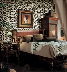 Transform your living quarters into an African safari with animal print wallpaper. Get creative with more styles available at http://on.fb.me/11aW00L