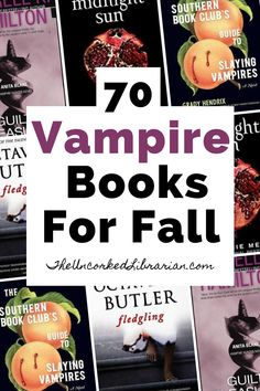 Do you love vampire books, vampire series, and vampire romances?  Discover 70 best books with vampires and books about vampires for adults and teens.  You'll be sure you find something on this vampire reading list perfect for Halloween and fall. Best Books To Read, New Books, Good Books, Book Club Books, Book Lists, Vampire Romance Books, Literary Travel, Vampire Series, Fallen Book