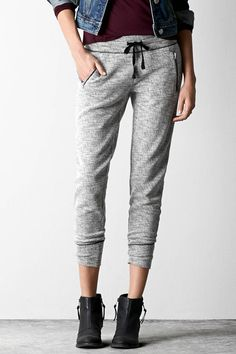 12 Sweatpants You Can Wear Out Of The House #refinery29  http://www.refinery29.com/chic-sweatpants-under-50-dollars#slide-4  The irony about joggers: They're better for Netflix marathons than actual jogging.