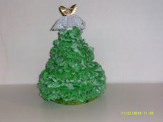 Beautiful green flannel handmade Christmas tree by cleancritters, $15.00