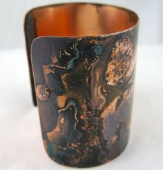 Easy Patina Finishes for Copper and Brass – a Tutorial.  Could easily use these methods on metal pieces used with or for mixed media art.