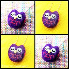 Customized Felted Owl necklace © 2012 FELTasticFashion