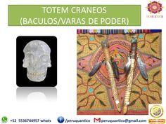 HERRAMIENTAS ANDINAS CEREMONIAS & SANACION * BACULOS O VARAS DE PODER  CODIGO CRANEOS CUARZO