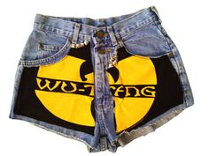 Studded Wu-Tang Clan Lee Riders shorts