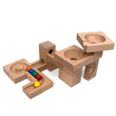 Marble Run Wave - The Wooden Wagon Wooden Marble Run, Making Wooden Toys, Wooden Wagon, How To Make Toys, Kids Wood, Montessori Toys, Wood Toys, Educational Toys, Kids Playing