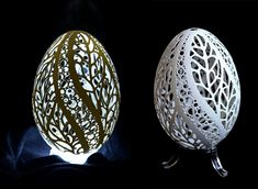 Artist Piotr Bockenheim Puts Your Easter Egg Decorating to Shame with His Intricately Carved Goose Shells pattern eggs carving birds