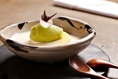 Tapioca pearls with pickled pineapple, white chocolate and coconut ice-sauce