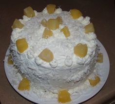 Cuisine with Chilean flavor: Torta de Piña - Pineapple Cake