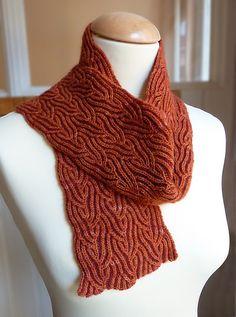 Ravelry: Cinnabar Brioche Scarf pattern by Nancy Marchant