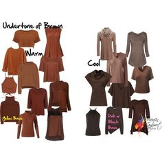 How to Pick the Undertone of Brown to Find the Most Flattering Shade - Inside Out Style - - How to identify the undertone of brown, which are warm browns, which are cool browns and who suits which shades of brown. Soft Autumn Color Palette, Soft Summer Palette, Deep Winter Colors, Spring Colors, Cool Winter, Winter Typ, Image Coach, Inside Out Style, Seasonal Color Analysis