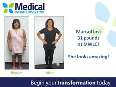 Sending a big CONGRATULATIONS out to Marisol who lost 31 lbs with MWLC!   Want to learn more about how MWLC has helped people reclaim their health and feel better than ever?