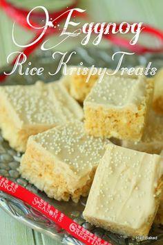 Half Baked: Eggnog Rice Krispy Treats