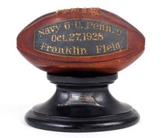 1928 Navy Trophy Football from Victory Over Penn. $1822