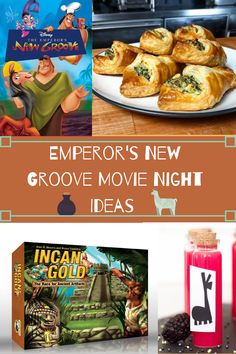 Movie Night For Kids, Dinner And A Movie, Family Movie Night, Family Movies, Groove Movie, Disney Dinner, Emperors New Groove, Night Food, Dinner Themes