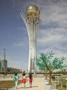 The Bayterek monument and observation tower in Astana, Kazakhstan.