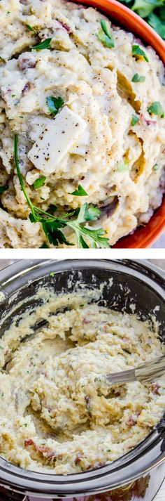 Slow Cooker Buttermilk Mashed Potatoes - The Food Charlatan