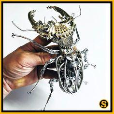 ☺ Un #scarabée #mécanique 💗 #steampunk