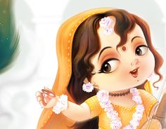 God's Favorite Valentine Meerabai, her poems, songs are unparalleled example of devotion and Love towards Shree Krishna. Baby Ganesha, Baby Krishna, Radha Krishna Love, Lord Krishna, Lord Shiva Painting, Krishna Painting, Radha Krishna Pictures, Krishna Photos, Arte Krishna