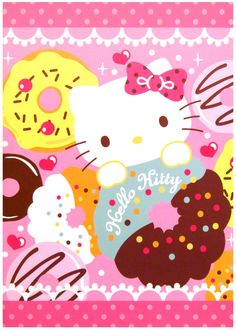 Sanrio Hello Kitty Doughnuts Kawaii Notebook