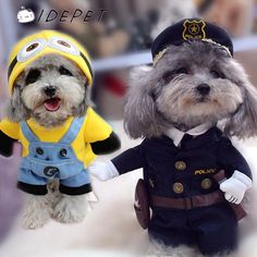 Cute Dog Costumes - Size S to XL     Tag a friend who would love this!     FREE Shipping Worldwide     Get it here ---> http://sheebapets.com/pet-dog-clothes-for-dog-costumes-small-dog-coats-for-large-dog-hoodies-jackets-warm-cat-outfit-hoodies-spring-free-shipping-50/