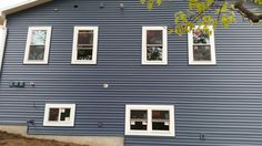 #Siding done by #stylecraft! Love the deep blue color!