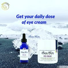 The best skincare  use glacial water and purity herbs Eye Treatment, Eye Gel, Eye Cream, Dark Circles, Skincare, Herbs, Water, Water Water, Aqua