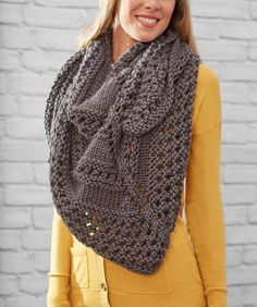 Textured Triangle Shawl | Red Heart