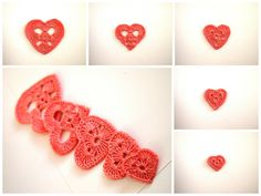 FREE SHIPPING  Valentines Day hearts  set of 10 by Handicraftshed, €4.00