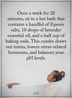 How to use epsom salts to decrease stress related hormones and rebalance your pH. - Fibromyalgia - How to use epsom salts to decrease stress related hormones and rebalance your pH levels. Natural Health Remedies, Home Remedies, Health And Beauty Tips, Health Tips, Health And Wellness Quotes, Beauty Guide, Stress Management, Stress Relief, Good To Know