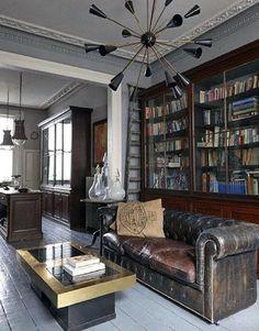 Masculine Living Room Design Idea Inspiration