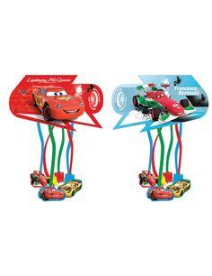 Piñata Cars Ice™: Esta piñata tiene licencia oficialCars Ice™.Es de cartón y mide 28,5x15,5 cm.Tiene dos partes: una con rayo McQueen en fondo rojo y otra con Francesco de fondo azul.La...