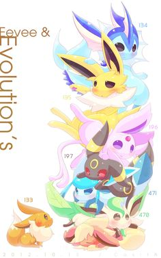 eeveelutions! Flareon looks like she's getting crushed :/