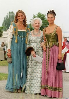 Madeleine, Princess Lilian & Crown Princess Victoria  At King Carl-Gustaf & Queen Silvia's Silver Wedding Anniversary Celebration In 2001.