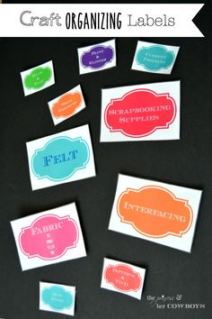 'Craft Organizing Labels...!' (via The Princess & Her Cowboys)