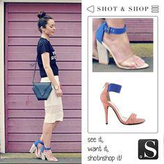 Pink & blue sandals... Why not? #PinkAndBlue #sandals #ShotnShop #fashion #app